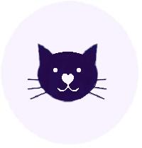 visage de chat stylisé